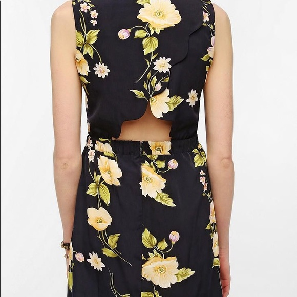 UO | Bycorpus | Scallop Floral Pocket Dress | XS
